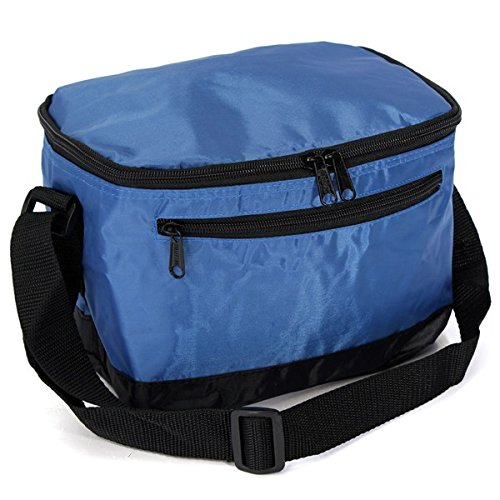Shop24Hrs Thermal Cooler Waterproof Lunch Bag Portable Insulated Picnic Tote Blue Color