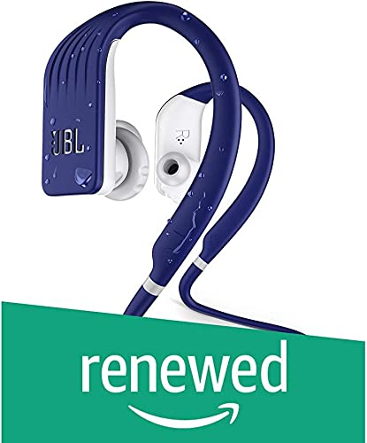 JBL Endurance Jump, Wireless in-Ear Sport Headphone with One-Button Mic Remote – Blue Renewed