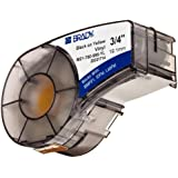 "Brady M21-750-595-OR Label Cartridge for BMP21 Series, ID PAL, and LABPAL Printers; Vinyl Film; Black Print on Orange Background; 0.75"" Wide x 21' Long"