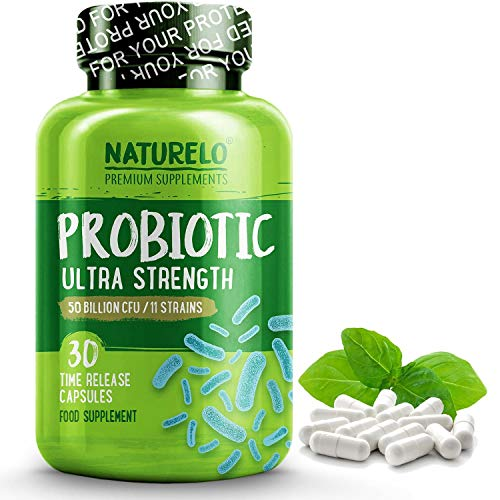 NATURELO Probiotic Supplement - Best for Digestive Health and Immune Support - Ultra...