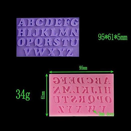 AUTBMP Símbolos alfanuméricos 3D Molde de Chocolate de Silicona ...
