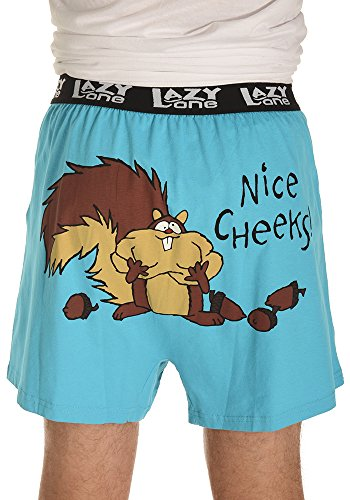 Lazy One Men's Nice Cheeks Comical PJ Boxers Funny Phrases and - Nice Shop One