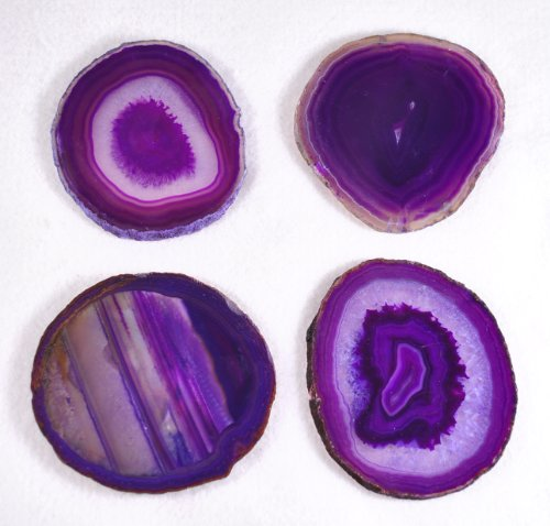 Purple Agate Beverage Beautiful Coasters (Set of 4)