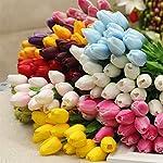 WINOMO-30pcs-Real-Touch-Artificial-Mini-PU-Tulips-Fake-Flowers-for-WeddingPurple