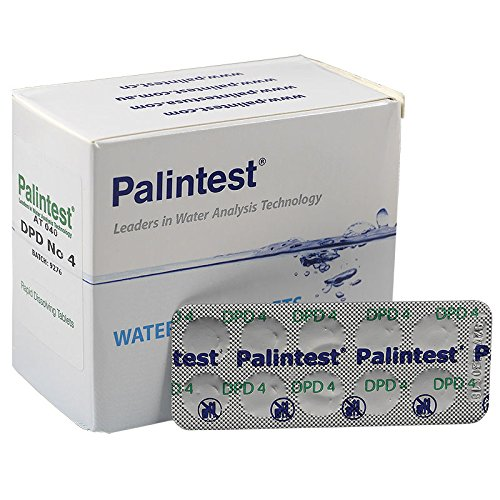 250 Rapid test tablets DPD 4 (25 Strips) for pool testers Oxygen/Brand Quality from Palintest/Swimming Pool Spa Water Analysis Pooltest/Refill active oxygen AT 040