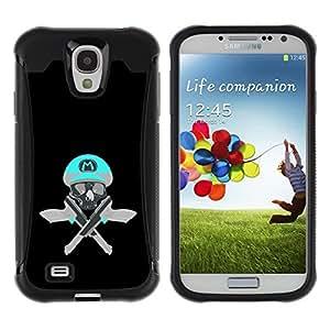 """Pulsar iFace Series Tpu silicona Carcasa Funda Case para Samsung Galaxy S4 IV I9500 , Cráneo divertido M juego retro Pistolas Pistolas"""""""
