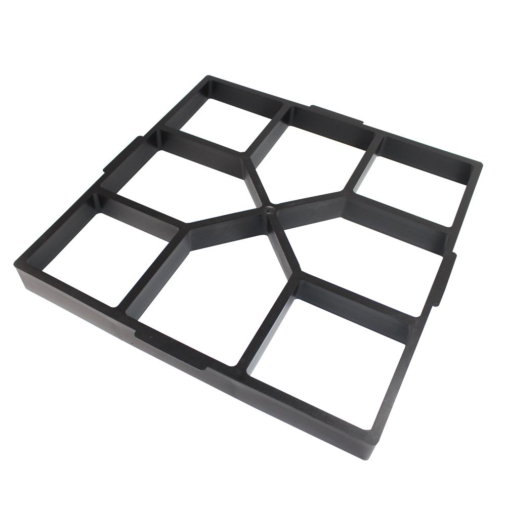 Path Maker Plastic Concrete Mold Garden DIY Lawn Paving Square