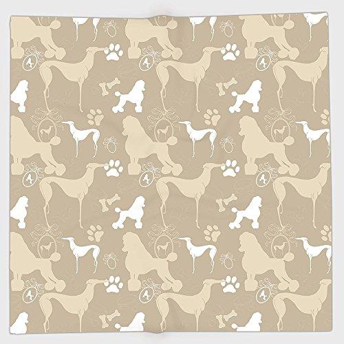 adband Scarves Headwrap,Dog Lover,Pet Animals Accessories Leash Paw Print Bone Ornamental Abstract Illustration,Tan White,for Women Men ()