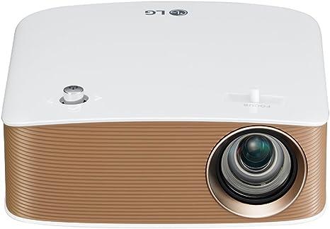 Opinión sobre LG PH150G - Proyector Minibeam Portátil con batería incorporada (HD 1280x720, LED, contraste 100,000:1, 130 lúmenes) - Blanco [VERSION UK]