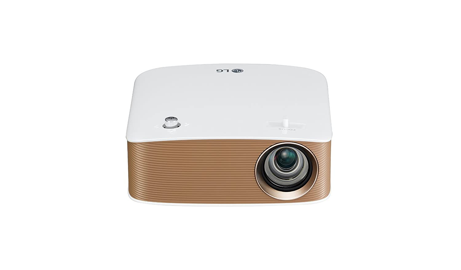 TALLA HD. LG PH150G - Proyector Minibeam Portátil con batería incorporada (HD 1280x720, LED, contraste 100,000:1, 130 lúmenes) - Blanco [VERSION UK]