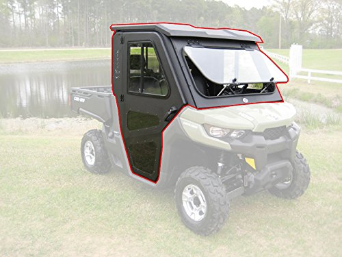 Steel Complete Cab Enclosure System w/Doors Can-Am 16-19 Defender Fold Down Frt
