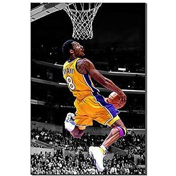 444e9d8d838 Kobe Bryant Wallpaper Basketball Home Decor Sports Poster Painting Canvas  Prints Picture Frameless Artwork New Home Gift