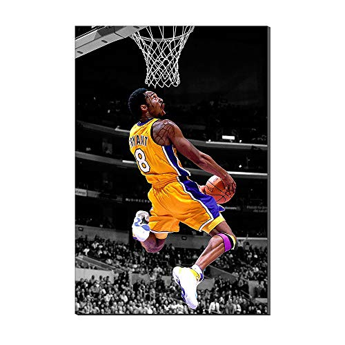 Kobe Bryant Wallpaper Basketball Home Decor Sports Poster Painting Canvas Prints Picture Frameless Artwork New Home Gift