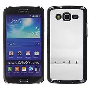 Paccase / SLIM PC / Aliminium Casa Carcasa Funda Case Cover para - Winter Snow Black White Trees Horizon - Samsung Galaxy Grand 2 SM-G7102 SM-G7105