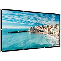 HIRALIY 120 inch Projection Screen 16:9 HD 4K Foldable Anti-Crease Portable Projector Movies Screen for Home Theater Outdoor Indoor Support Double Sided Projection