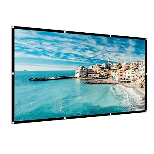 120 inch Projection Movies Screen 16:9 HD 4K Foldable Portable Outdoor Indoor Video Projector Screen TV 160°Viewing Angle Diagonal Projection with Wrinkle-Free Design for Home Theater Office by HIRALIY