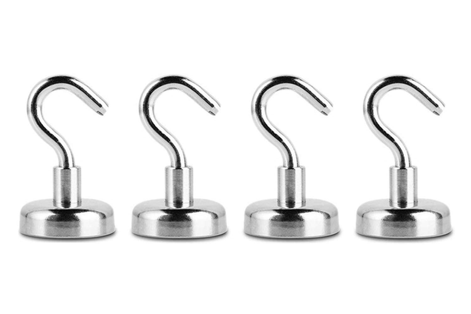 Heavy Duty Magnet Hooks with Strong Neodymium Magnet Hook for Home Pitcircle Magnetic Hooks 15LB-10PCS Office and Garage Workplace Kitchen