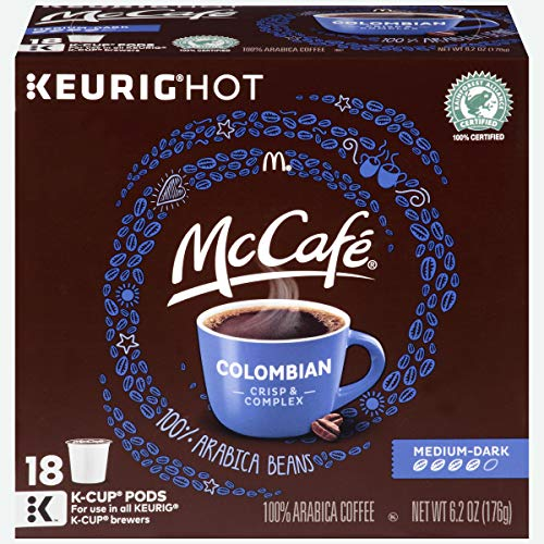 - McCafe Colombian Keurig K Cup Coffee Pods (72 Count, 4 Boxes of 18)