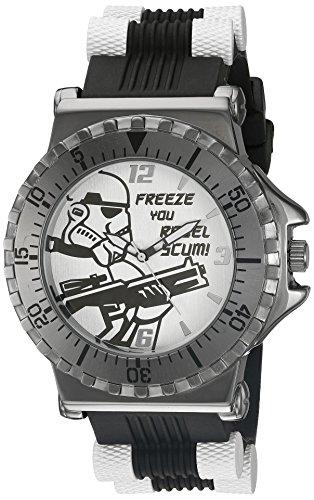 Star Wars Men's STM1150 Analog Display Analog Quartz Black Watch