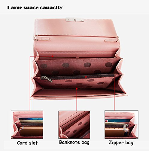 Womens Clutch Wallet Leather Purse Green New SAIERLONG Pu Holder Black Case aSqUngw6