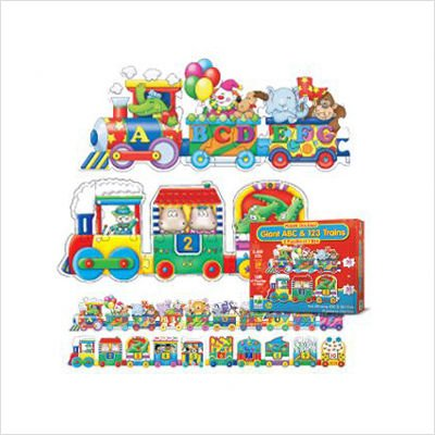 Puzzle Doubles Giant ABC & 123 Train Floor Puzzles; no. LJ-8