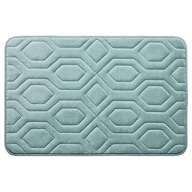 Bounce Comfort Extra Thick Memory Foam Bath Mat - Turtle Shell Premium Micro Plush Mat with BounceComfort Technology, 20 x 32 in. Aqua