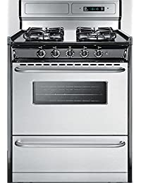 Summit TTM23027BKSW Kitchen Cooking Range, Stainless Steel