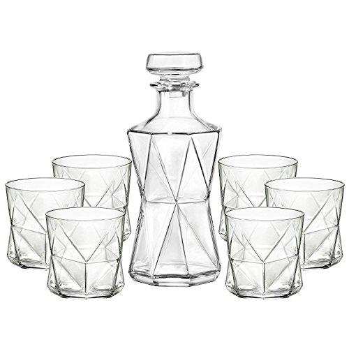 Rocco Glass Highball Bormioli Glass - Bormioli Rocco 7 Piece Cassiopea Decanter & Rocks Set