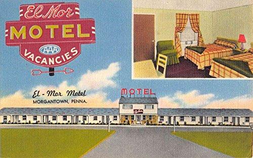 Morgantown Pennsylvania El Mor Motel Multiview Antique Postcard - Morgantown Stores