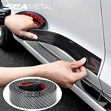 203fb53c036 Amazon.com  5D Carbon Fiber on Car Stickers Vinyl Door Bumper Film  Protector Trim Trunk Decal in Auto for BMW Audi Body Sticker Accessories   Baby