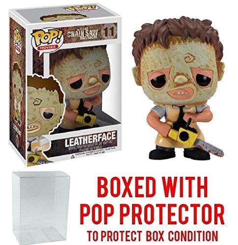Funko Pop! Movies: Texas Chainsaw Massacre - Leatherface Vinyl Figure (Bundled with Pop BOX PROTECTOR CASE)