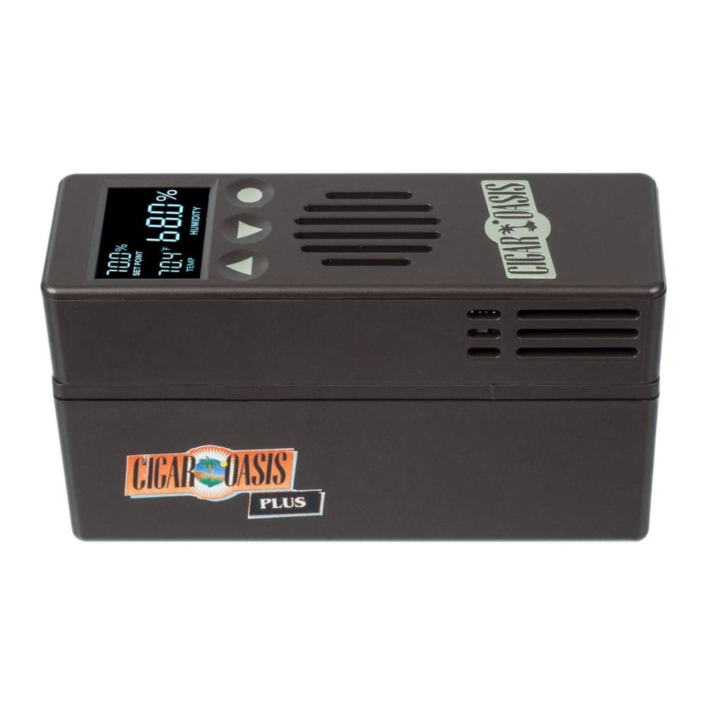 Cigar Oasis Plus 3.0 Electronic Cigar Humidifier with Digital Analog Hygrometer Bundle by Cigar Oasis (Image #2)