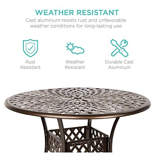 Garden and Outdoor Best Choice Products 5-Piece All-Weather Outdoor Cast Aluminum Dining Set for Patio, Balcony, Lawn, Garden, Backyard w… patio dining sets