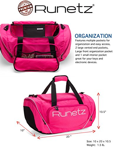 99daccad5d8b Runetz Gym Bag for Women and Men Duffle Bag with Wet Pocket ...
