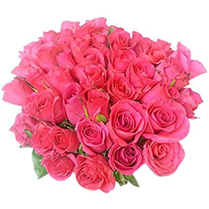 Florazone Glowing Fresh Flowers Pink Bouquet Bunch Of Pink Roses