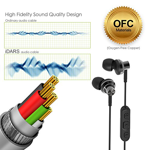 iDARS E305 Headphones, Apple MFi-Certified, In-Ear Lightning Earphone, Ergonomic Design Earbuds with Mic & Remote for iPhone 7/7 Plus, iPhone 8/8 Plus, iPhone X, (Black) Support iOS 10 and later by iDARS (Image #4)
