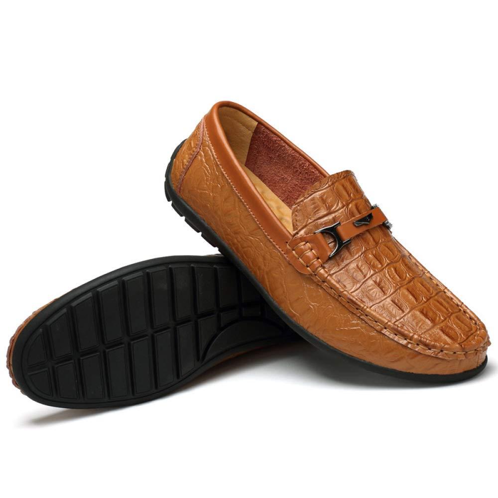 LYZGF Lässige Männer Braun Rutschfeste Tragbare Erbsen Schuhe Braun Männer 6fcf12