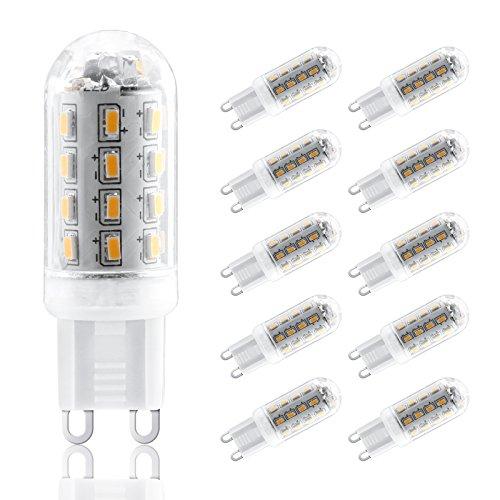 G9 LED Lampe Birne - Ascher 10er-Pack G9 LED Leuchtmittel 3.5W 300 Lumen [Ersetzt 30W Halogen, AC220-240V, Warmweiß, 300° Abstrahlwinkel] G9 LED Leuchtmittel