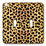 3dRose LLC lsp_20340_2 Cheetah Animal Print Double Toggle Switch