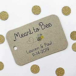 Meant to Bee Honey Tags Wedding/Event/Celebration Favor Hang Tags (RR-277-H-KR)