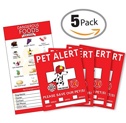 Pet-Alert-Sticker-5-x-4-inches-Toxic-Food-for-Pets-Pet-Safety-Pet-Alert-Pet-Rescue-Sticker-Warning-Pet-Inside-Pet-Alert-Window-Cling-Dog-Cat-Bird-Rescue-Sticker-Save-Our-Pets
