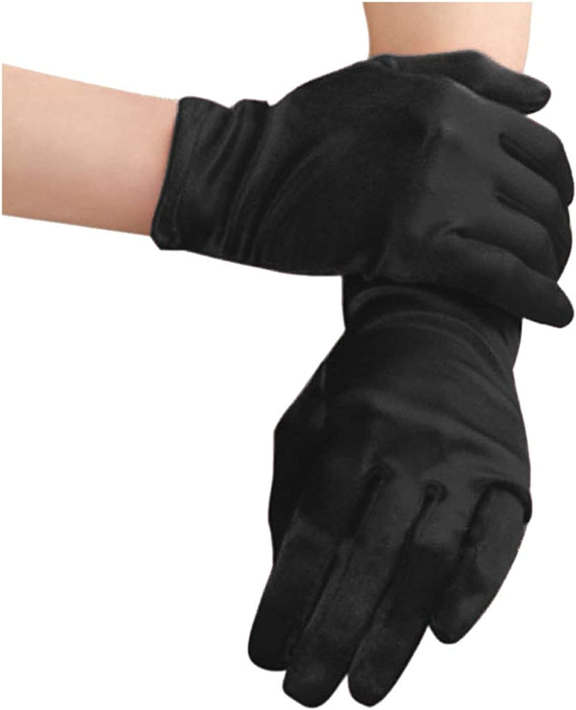 Starsource Bridal Waiters Magician Elastic Wrist Short Satin Gloves Costume Glove