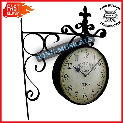 Double Sided Victoria Station Decorative Wall Clock -