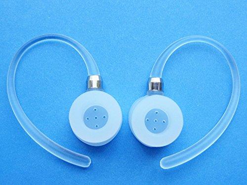 2 White Noise Isolating Earhooks for Motorola Elite Flip HZ720, H17, H17txt, H19, H19txt, HX550, H525, H520 Bluetooth Wireless Device