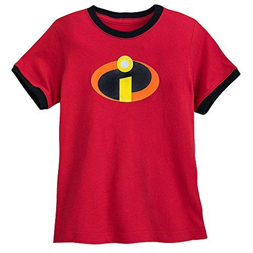 Pixar Incredibles Logo Ringer T-Shirt for Boys Size S (5/6)