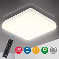 Oeegoo Lámpara de Techo Regulable, IP54 Impermeable, LED