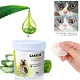 GARYOB Eye Tear Stain Remover Wipes for Cats & Dogs, Best Natural Eye