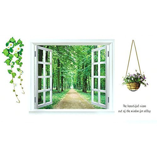 DealMux 3D Window Scenery Pattern Home Art Decal Wall Sticker Mural Decoration