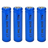AAA Size ICR10440 3.7V 350MAH Lithium Ion Rechargeable Battery (4pc button top)