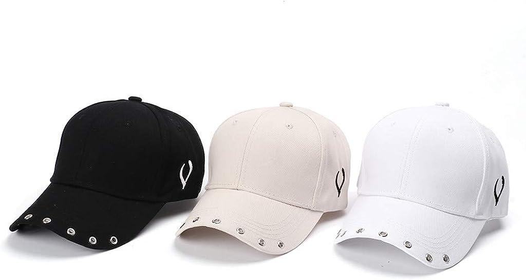 Renlinwell Unisex Outdoor Cotton Solid Color Adjustable Hat Caps